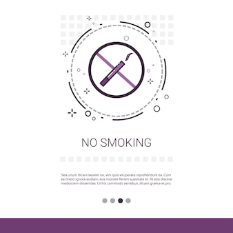 No smoking public sign banner