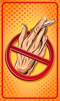No smoking sign cartoon