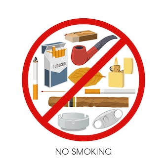 No smoking sign design