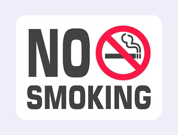 Знак не курить запрещенный значок знака, изолированные на светло-сером фоне векторные иллюстрации