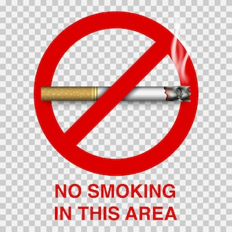 No smoking sign with cigarette Premium Vector