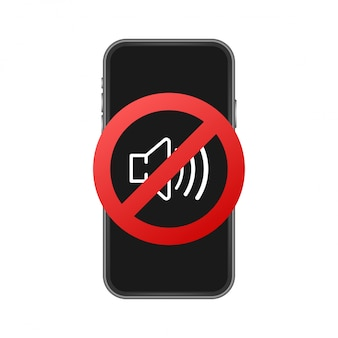 No sound phone illustration.