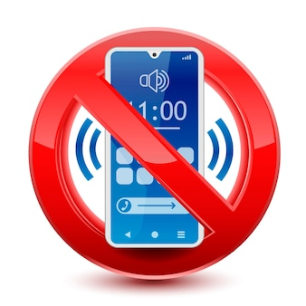 No sounds on phone sign