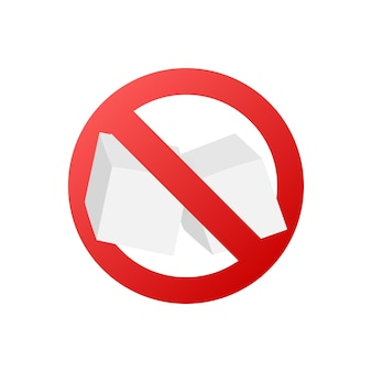 Нет сахара бесплатные векторные иконки. векторная иллюстрация.