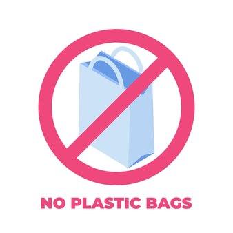 비닐 봉지 금지, 제로 웨이스트 개념.