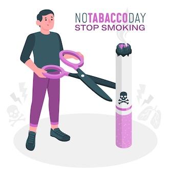 Illustrazione di concetto di giorno senza tabacco
