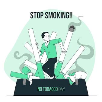 Иллюстрация концепции дня без табака