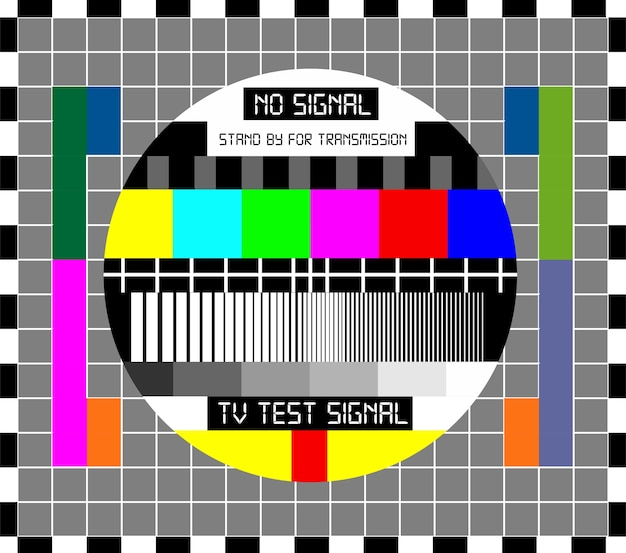 No tv signal chanel program background template