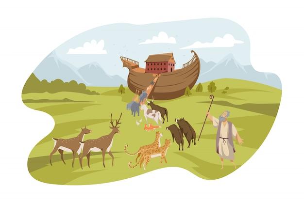 Noahs ark, bible concept