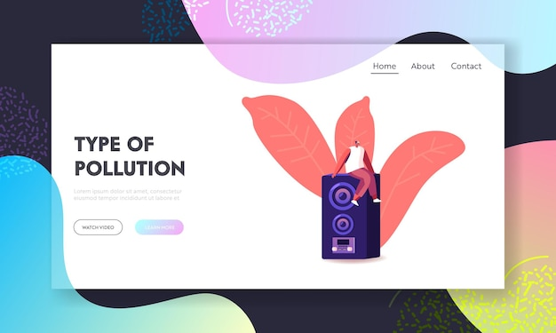 Noise pollution landing page template.
