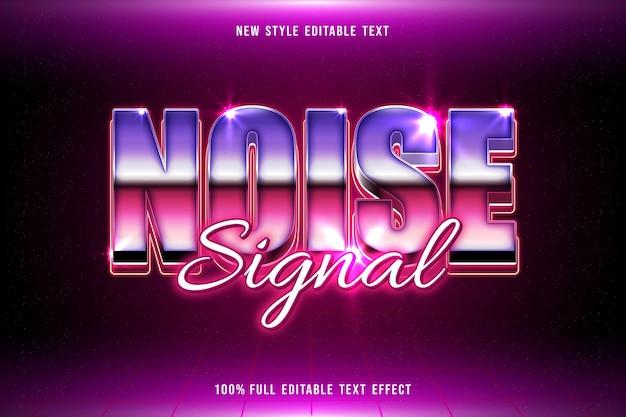 Noise signal editable text effect retro style
