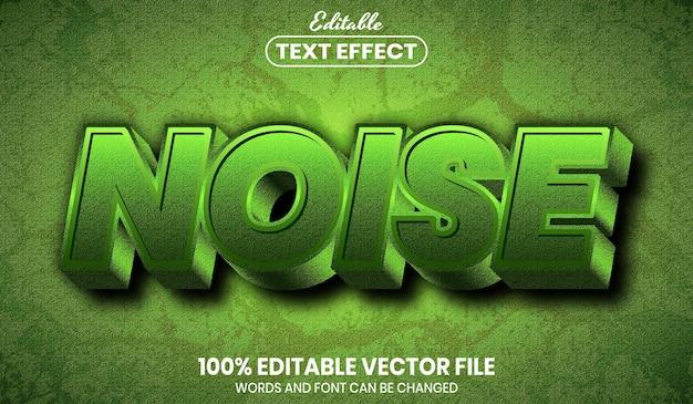 Noise text, font style editable text effect