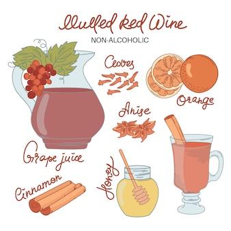 Non alco mulled wine