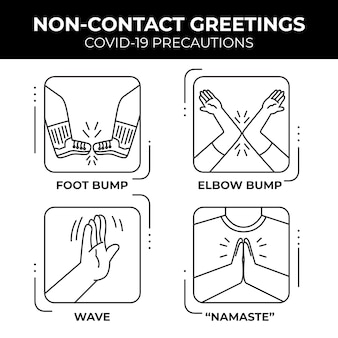 Non-contact greetings concept