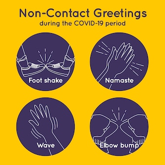 Non-contact greetings during covid19