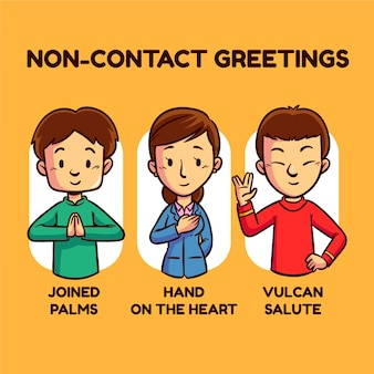 Non-contact greetings ideas