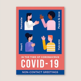 Non-contact greetings in poster format