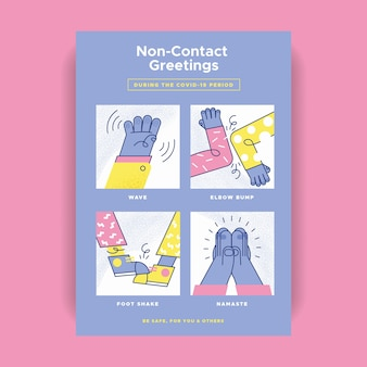 Non-contact greetings poster