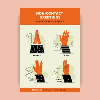 Non contact greetings poster