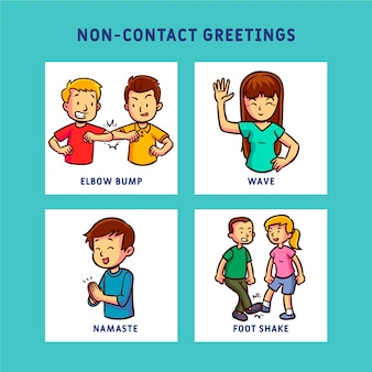 Non-contact greetings prevention concept