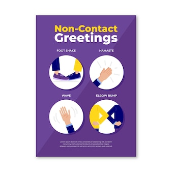 Non-contact greetings template