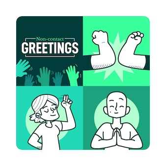 Non-contact greetings