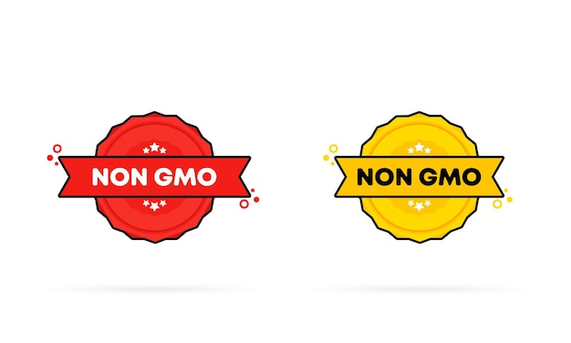 Non gmo stamp set. vector. non gmo badge icon. certified badge logo. stamp template. label, sticker, icons. gmo free natural product. vector eps 10. isolated on white background.