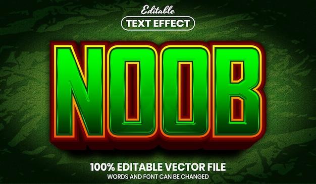 Нубский текст, редактируемый текстовый эффект