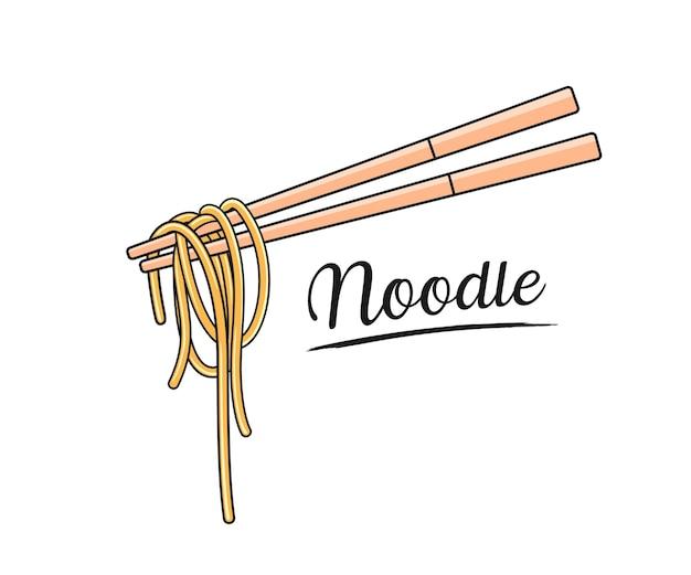 Лапша и палочки для еды