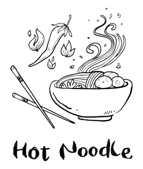 Noodle hand drawn