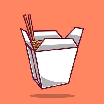 Noodle icon illustration