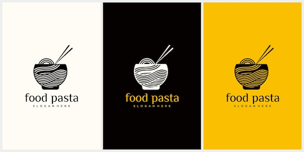 Noodle logo for ramen business fast food restaurant korean food japanese food japanese ramen logo