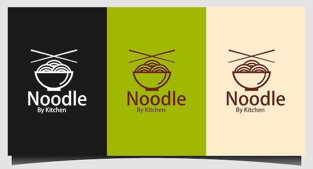 Noodle logo template vector illustration