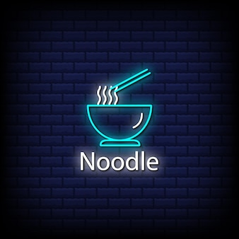 Noodle neon signs style text