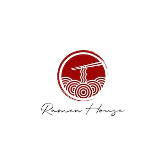 Noodle or ramen logo design vector