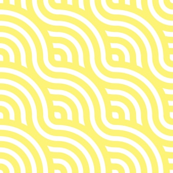 Noodle seamless pattern. yellow waves. abstract wavy background.   illustration.