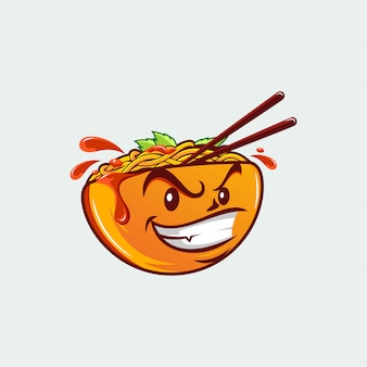 Noodles cartoon s with face