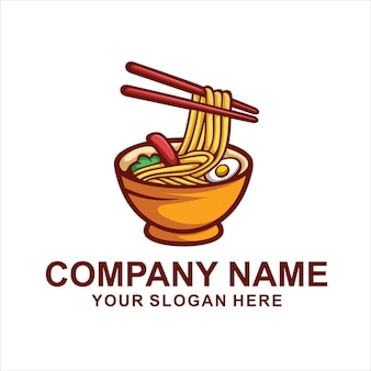 Noodles food logo isolated on white