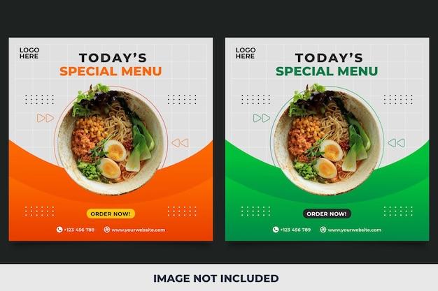 Noodles menu promotion social media banner template