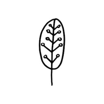 Северное геометрическое дерево вектор простой элемент в современном скандинавском стиле