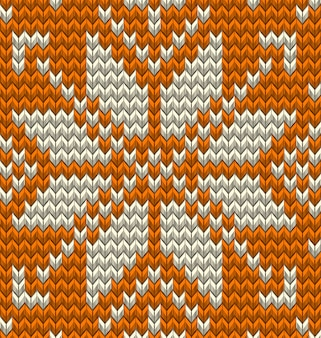 Nordic knitted perfect seamless pattern.