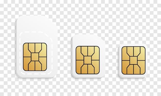 Normal, micro, nano - phone cards Premium Vector