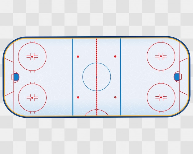 North american ice hockey rink