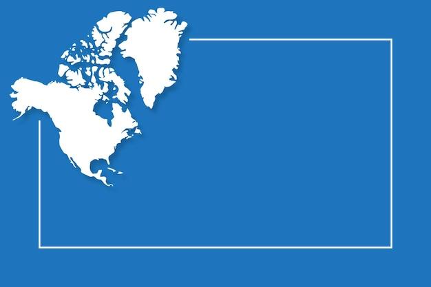 Карта северной америки с векторным шаблоном фона
