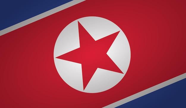 North korea flag angle shape