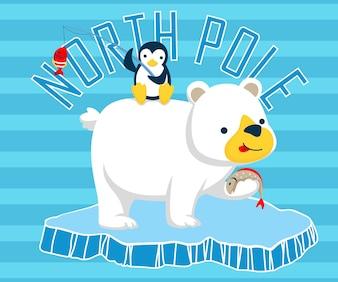 North pole animals cartoon