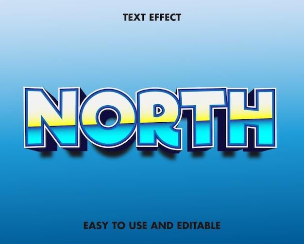 Эффект северного текста. легко использовать и редактировать. премиум векторные иллюстрации