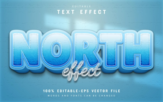 North text effect editable