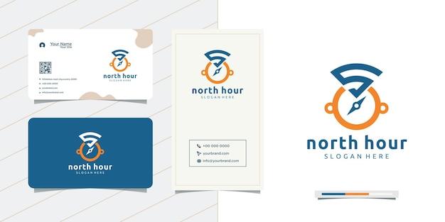 Дизайн северных часов и дизайн визитки