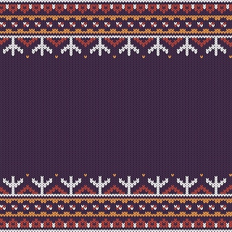 Northern knitted pattern
